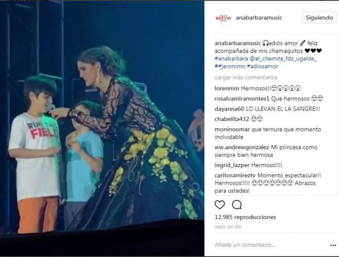Ana Bárbara hereda el talento a sus hijos